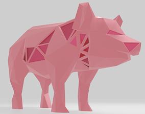 3D printable model Polygonal Pig Parametric