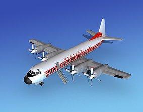 3D model Lockheed L-188 Electra HP Western