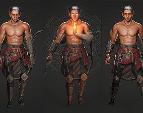 Southeast Asian Warrior Hero Character 3D model
