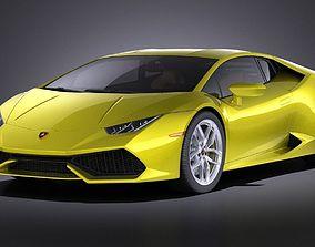 3D model Lamborghini Huracan LP610-4 2016 VRAY