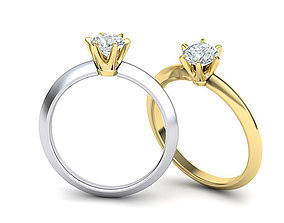 Solitaire Diamond Engagement ring 3dmodel