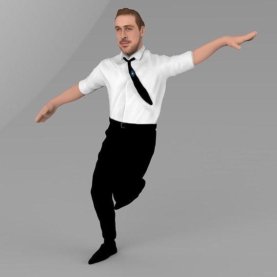 Ryan Gosling La la land pose 3D printable