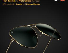 clothing Ray-Ban Aviator sunglasses 3D model