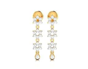 jewelry engagement Women earrings 3dm render detail