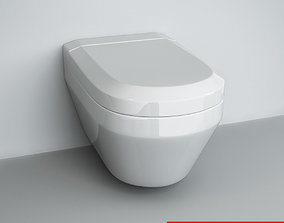 3D model Wall-mounted WC