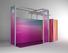 Exhibition stand octanorm maxima 6x2m 3D model