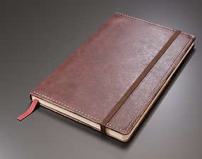 Worn Leather Notebook 3D asset