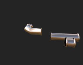 Bronze Pipes 3D model