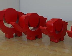 3D print model Elephant ornament
