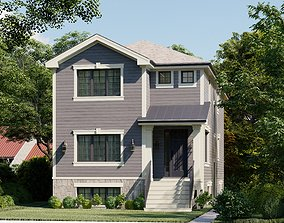 3D model Western Style Architecture House