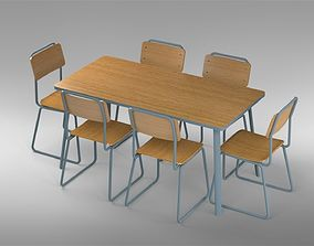 3D printable model DINING TABLE - CHAIR