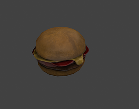 Burger 3D model VR / AR ready