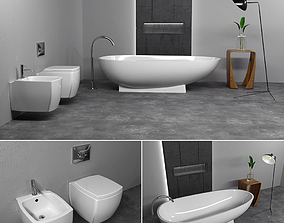 3D Furniture bathroom set 2