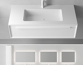 Falper 7 0 Wall-mounted vanity unit with drawers 3D asset