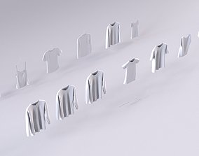 13 hanged shirts store retail cloth wool cotton 3D model
