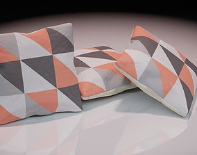 Contemporary colourful cushion design 5 3D asset