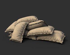 3D model Low poly Sandbag 02
