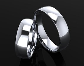 3D printable model wedding ring comfort