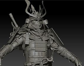 3D Samurai remaster High poly Zbrush project