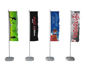 3D Banner flags