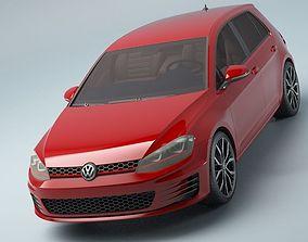 golf 7 3D model automobile