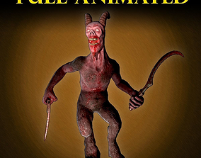 3D asset Demon Slave