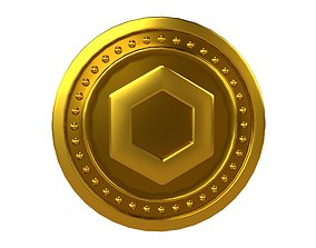 Chainlink Coin v3 001 3D asset