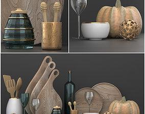 3D decorative kitchen set goblet