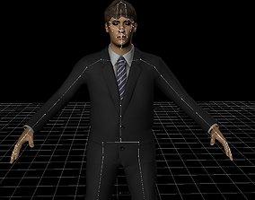 Man In Suit - Rigged FBX 3D asset
