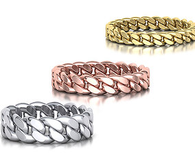 3D model Cuban Ring Chain ring collection with discount