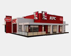 3D American KFC Restaurant