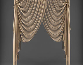 low-poly Curtain 3D model 318