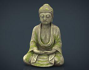 Ancient buddha 3D asset