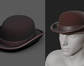 Human Hat Generic Brown protection classic basic 3D asset