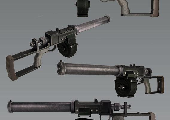 Assault rifle replica VSS Vintorez 3D model