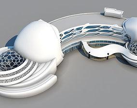 Organic Hotel - 3Ds Model - 2Ds Plans 3dsmax