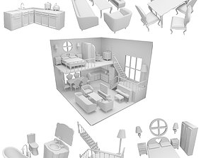 CNC cut and Printable Dollhouse toys