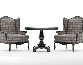 Chair 1009 and table 1185 factory Roberto Giovannini 3D