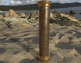 game column gold bronze 3D asset