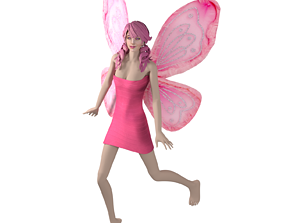 Fairy Woman Character 3D Model - Game Ready realtime