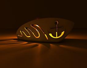 Boat candle holder 3D model