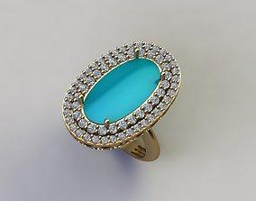 rings Turquoise ring 3D print model