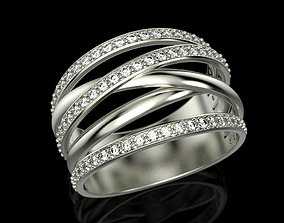 Multi band ring 3D print model