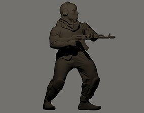 Gangsters with AKs 28mm scale 3D print model