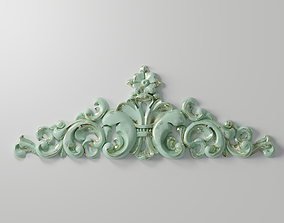 Carved decor horizontal 10 3D printable model