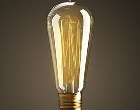 3D model Vintage Antique Light Bulb
