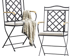 Manutti St-Tropez Dining Chair 3D model