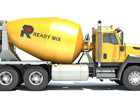 3D model cement Concrete Mixer Ready Mix Truck