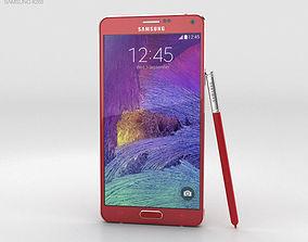 3D Samsung Galaxy Note 4 Velvet Red