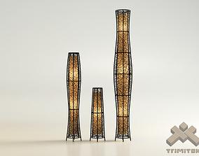 Exotic Mesh Lamps Set interior 3D